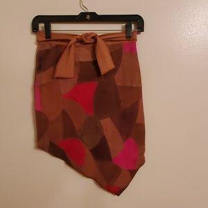 100% Suede Leather Girl's Sz10 Lipstik Skirt
